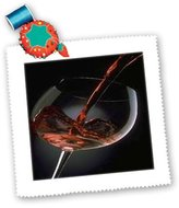 3dRose LLC qs_33209_1 Florene Food and Beverage - Pour A Glass Of Red Wine - Quilt Squares