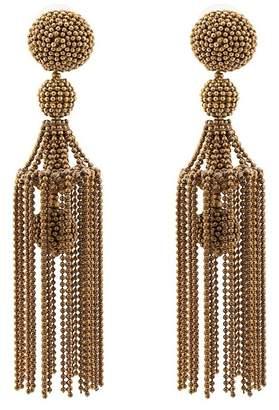Oscar de la Renta Chain Tassel Drop Earrings