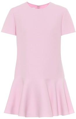Valentino Wool and silk crepe minidress