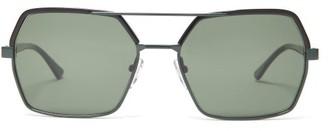Marni Aviator Metal Sunglasses - Black