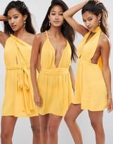 Asos Multiway Plunge Mini Beach Dress
