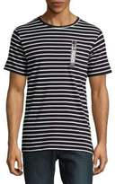 Karl Lagerfeld Striped Cotton Tee