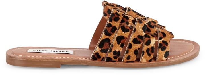 4214e3ce8a0 Masi Leopard Print Calf Hair Sandals