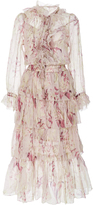 Zimmermann Winsome Ruffled Midi Dress