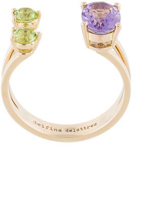 Delfina Delettrez Amethyst And Peridot Dots Ring