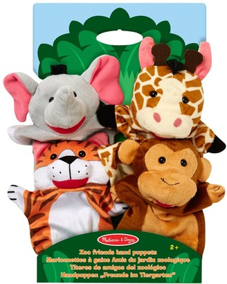 Melissa & Doug Zoo Friends Hand Puppets, Pack of 4