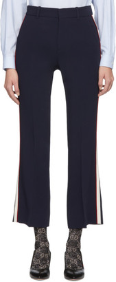Gucci Navy Bootcut Trousers