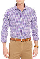 Hart Schaffner Marx Gingham Dobby Long-Sleeve Spread Collar Woven Shirt