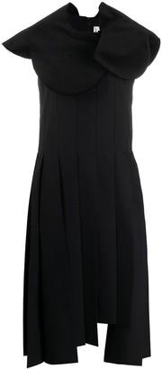 Comme des Garcons Asymmetric Pleated Dress