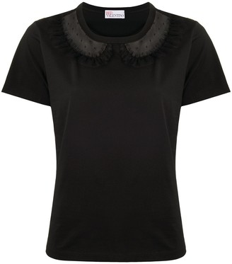RED Valentino point d'esprit-detail T-shirt