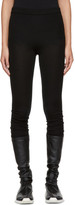Rick Owens Black Ribbed Cashmere Leggings