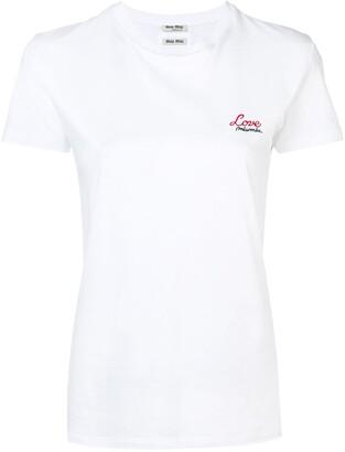 Miu Miu embroidered T-shirt