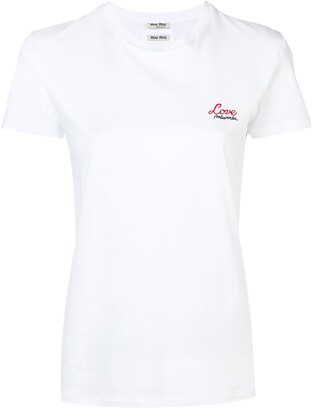 Miu Miu embroidered T-shirt