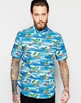 French Connection Short Sleeve Beach Boat Shirt