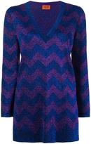 Missoni zigzag intarsia jumper - women - Polyester/Cupro/Viscose - 40