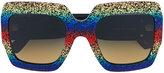 Gucci oversized square-frame sunglasses - men - Acetate - One Size