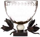 Jan Barboglio Clarity Serving Bowl with Forged Passion Flower Stand