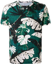 Moncler leaf print T-shirt - men - Cotton - S