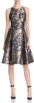 Eliza J Metallic Satin Fit-And-Flare Dress