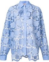 No.21 embroidered floral shirt