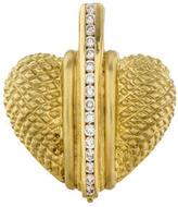 Judith Ripka 18K Diamond Heart Pendant