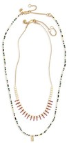 Madewell Women's Set Of 2 Beaded Layered Necklaces