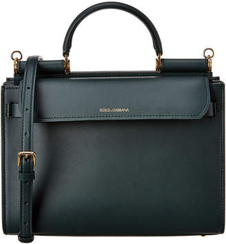 Dolce & Gabbana Sicily 58 Large Leather Tote