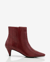 Le Château Snake Embossed Pointy Toe Ankle Boot