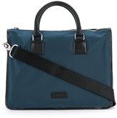 Cerruti trim detail briefcase - men - Calf Leather/Nylon - One Size