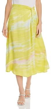 Young Fabulous & Broke Savanna Printed Twist Midi Skirt