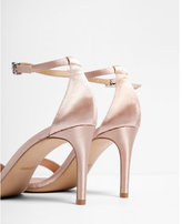 Express satin low heeled sandals