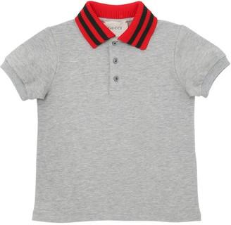 Gucci Cotton Pique Polo Shirt