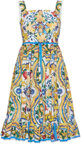 Dolce & Gabbana Printed Ruffle Skirt Dress