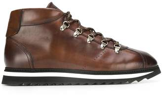 Doucal's ridged-sole lace-up ankle boots