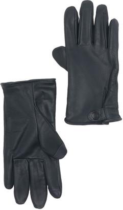 UGG Tabbed Splice Vent Leather Gloves