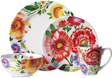 Kim Parker 16-Pc. Zinnia Dinnerware Set, Service for 4