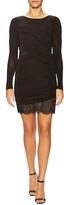 BCBGMAXAZRIA Clio Lace Ruched Sheath Dress