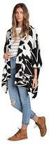Billabong Junior's Enchanted Ways Printed Poncho Chunky Sweater