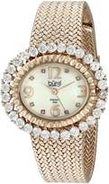 Burgi Women's BUR075RG Diamond Mesh Bracelet Watch