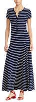 Lauren Ralph Lauren Wolford Casual Striped Dress, Navy/White
