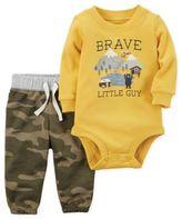 Carter's Newborn 2-Piece Brave Little Guy Bodysuit and Pant Set