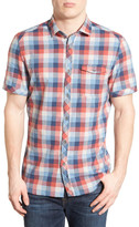 Jeremiah Kent Regular Fit Short Sleeve Check Short Sleeve Sport Shirt