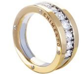 Chimento 18K White and Yellow Gold Aeternitas Diamond Band Ring Size 7.0