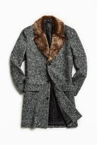Urban Outfitters Faux Fur Trim Lapel Top Coat