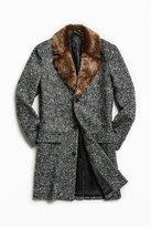 Urban Outfitters Faux Fur Trim Lapel Top Coat