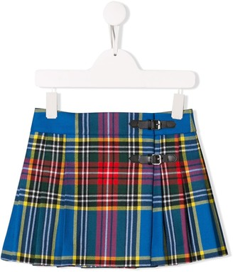 Bonpoint Tartan Print Mini Skirt
