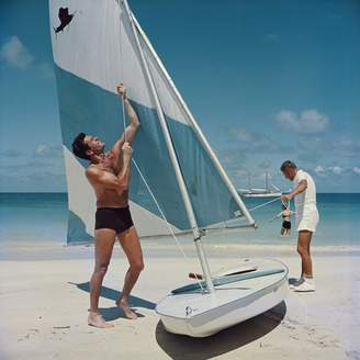 "Jonathan Adler Slim Aarons Boating in Antigua"" Photograph"