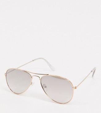 Accessorize Alice aviator sunglasses with mirror gradient in gold