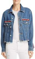 Sunset + Spring Ruffled Denim Jacket - 100% Exclusive