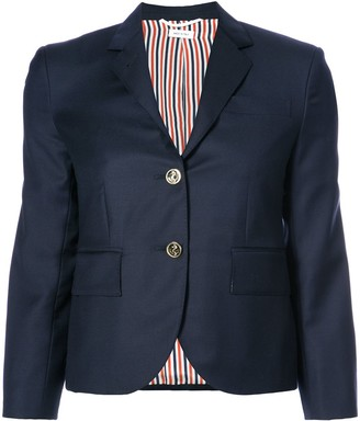 Thom Browne Single Breasted Sport Coat In Blue Wool Twill